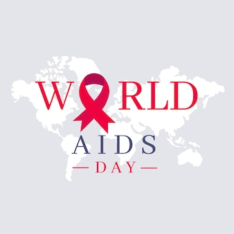 Simbolo di design piatto giornata mondiale contro l'aids