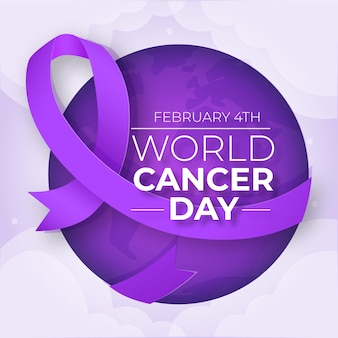Nastro di design piatto giornata mondiale del cancro
