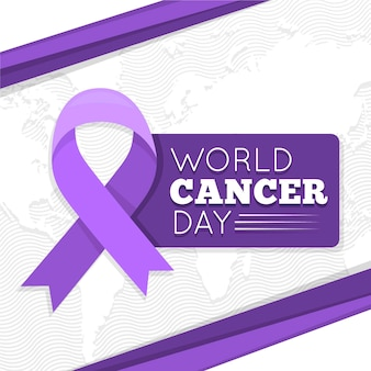 Giornata mondiale del cancro di design piatto