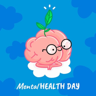 Giornata mondiale della salute mentale di design piatto