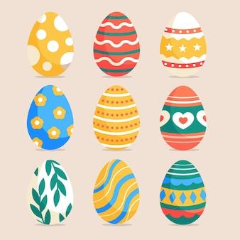 Collezione di uova di pasqua piatte