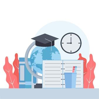 Illustrazione vettoriale di istruzione piatta.