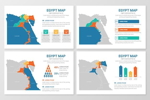 Piatto egitto mappa infografica