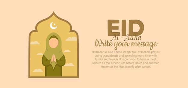 Illustrazione piatta eid al-adha
