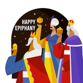 Illustrazione di epifania piatta
