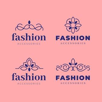 Collezione di logo accessori moda piatta