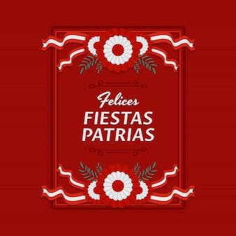 Piatto fiestas patrias de peru illustrazione