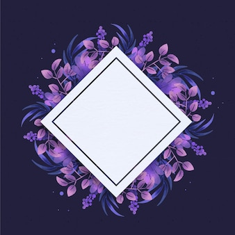 Cornice floreale piatta con spazio vuoto