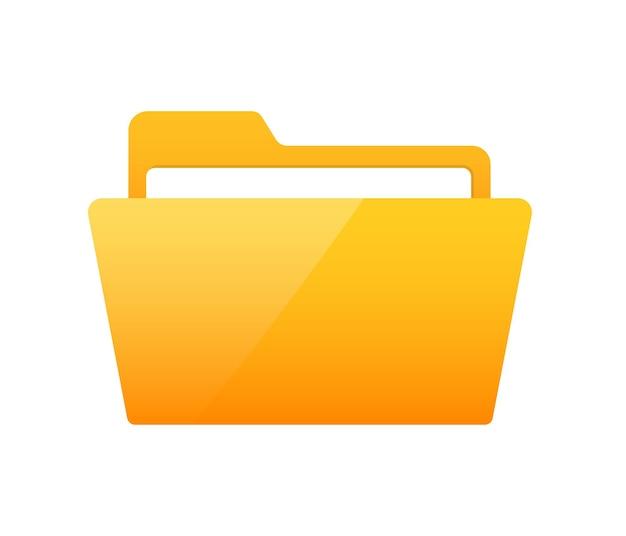 Illustrazione vettoriale icona cartella piatta