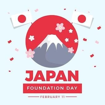 Giornata della fondazione piatta giappone