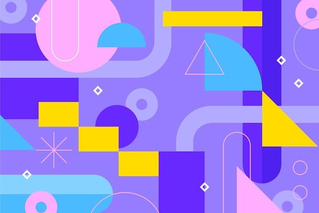 Sfondo geometrico piatto