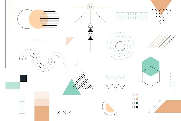 Sfondo di forme geometriche piatte