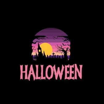 Sfondo e sfondo piatto di halloween