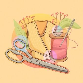 Concetto di stilista disegnato a mano piatta