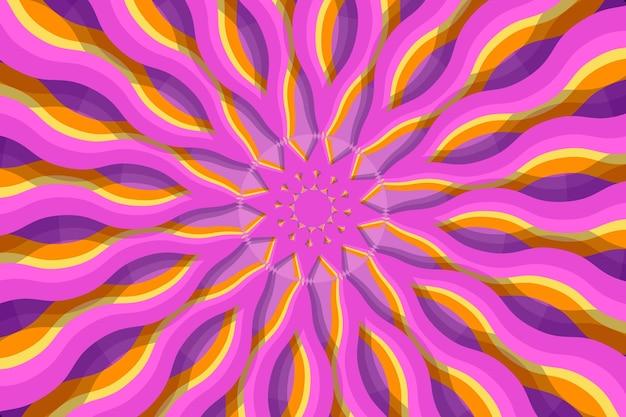 Sfondo groovy psichedelico disegnato a mano piatta