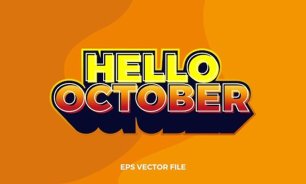 Logo piatto ciao ottobre