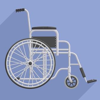Sedia a rotelle piatta ospedaliera