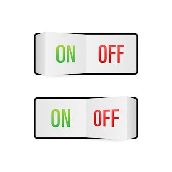 Icona piatta on e off attiva / disattiva il pulsante di commutazione
