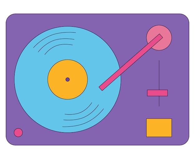 Icona piana dell'icona viola in stile retrò isolato su uno sfondo bianco