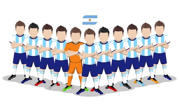 Illustrazione piana della squadra di calcio nazionale argentina