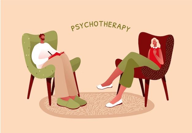 Illustrazione piatta. salute mentale o ptsd