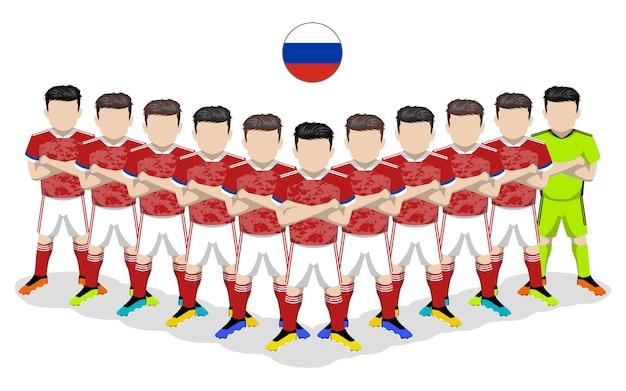 Illustrazione piana della squadra di calcio nazionale della russia per la concorrenza europea