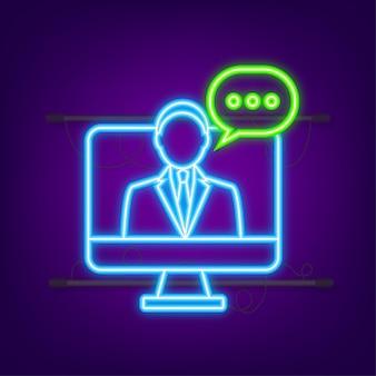 Illustrazione piatta con servizio clienti 3d illustrazione vettoriale servizio di assistenza clienti