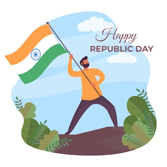 Festa della repubblica indiana piatta