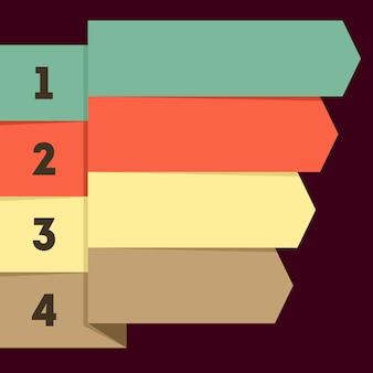 Infografica piatta con puntatori a nastro