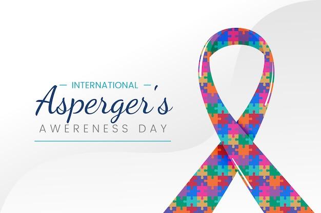 Giornata internazionale della consapevolezza dell'asperger piatto