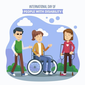 Giornata internazionale piatta delle persone con disabilità