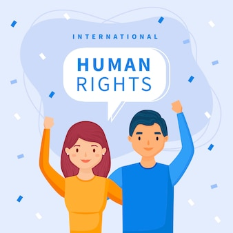 Giornata internazionale dei diritti umani piatta