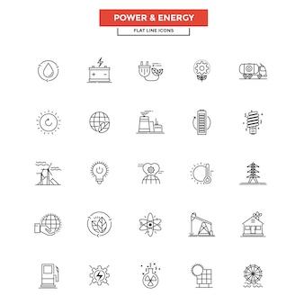 Icone di linea piatta