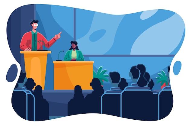 Illustrazione di conferenza medica piatta
