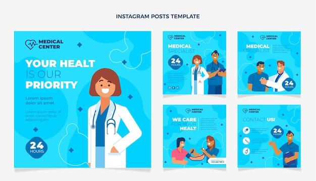 Post di instagram medico piatto