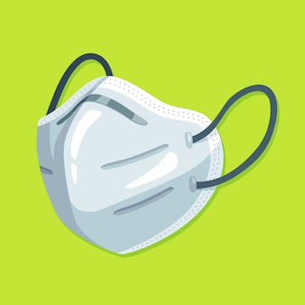 Maschera medica piatta