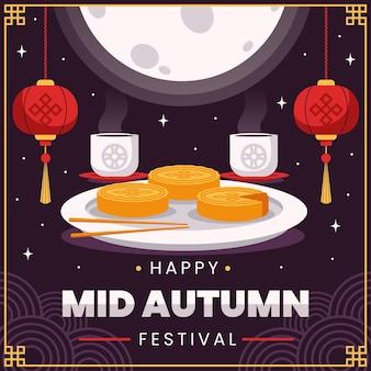Festival di metà autunno piatto