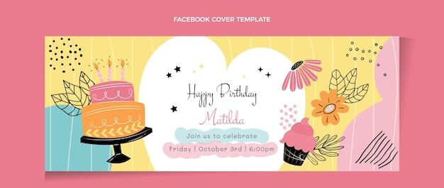 Copertina facebook piatta minimal compleanno