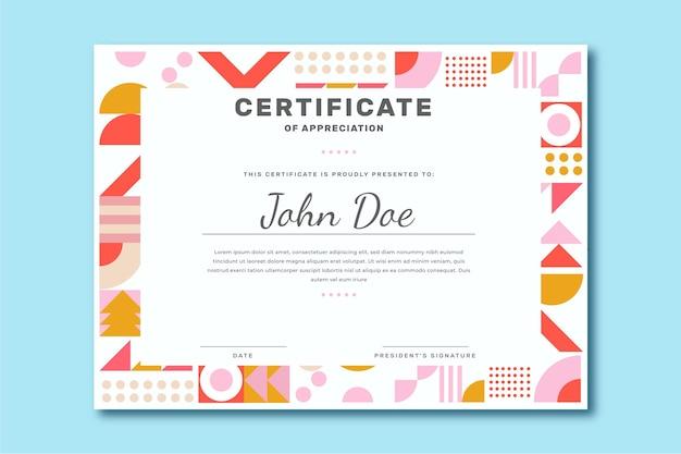Modello di certificato moderno piatto