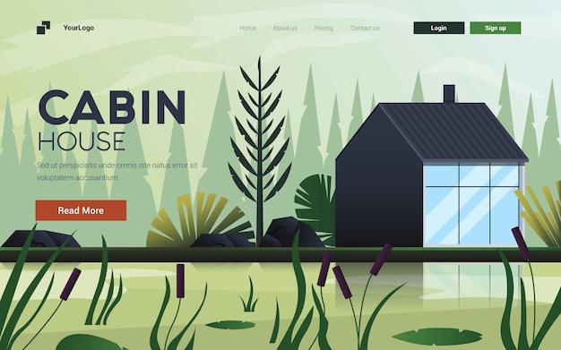 Illustrazione piana di progettazione moderna della cabina della cabina