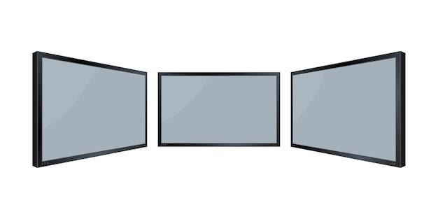 Monitor da parete piatto.