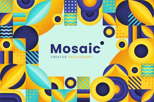 Sfondo piatto mosaico
