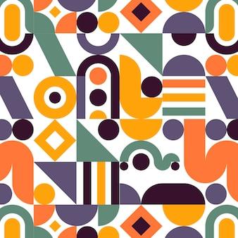 Disegno del motivo a mosaico piatto
