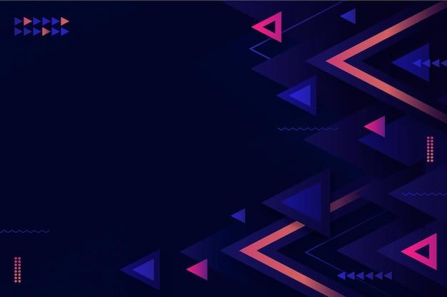 Sfondo geometrico piatto luce al neon