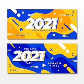 Banner di festa piatto nuovo anno 2021