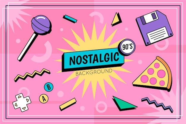 Sfondo piatto nostalgico degli anni '90