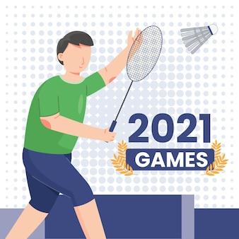 Illustrazione dei giochi olimpici piatti 2021