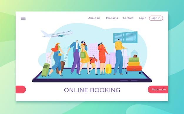 Prenotazione di viaggi online piatta
