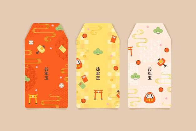 Modelli di otoshidama piatti