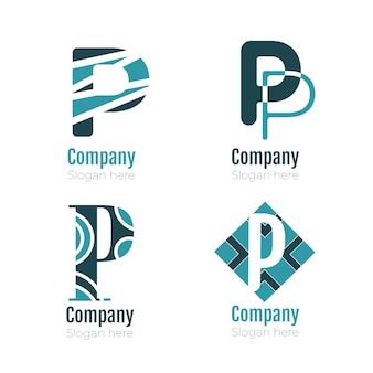Collezione di modelli di logo piatto p